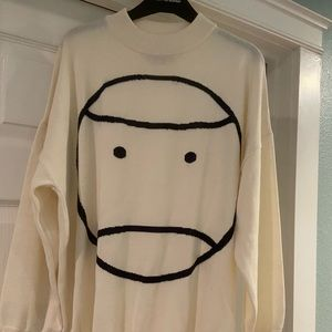 Tory Burch sport oversized mock neck sweater